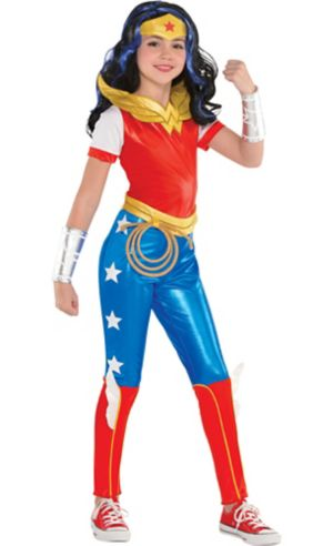 Girls Wonder Woman Jumpsuit Costume - DC Super Hero Girls