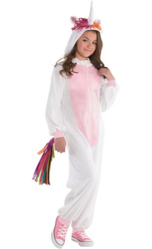 Girls Zipster Unicorn One Piece Costume