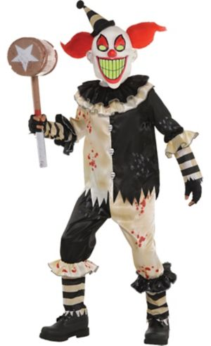 Boys carnival nightmare clown costume party city for Tattoo freak costume