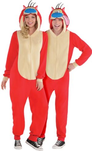 Adult Zipster Stimpy One Piece Costume - The Ren & Stimpy Show