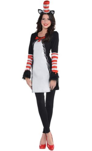 Adult Cat in the Hat Dress Costume - Dr. Seuss