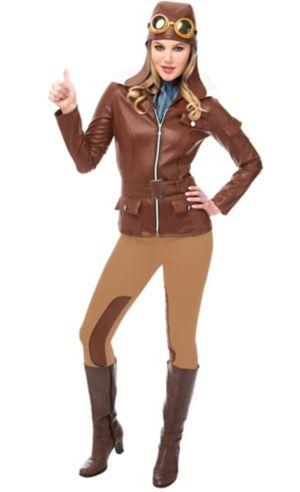 Adult Lady Lindy Aviator Costume Accessory Kit