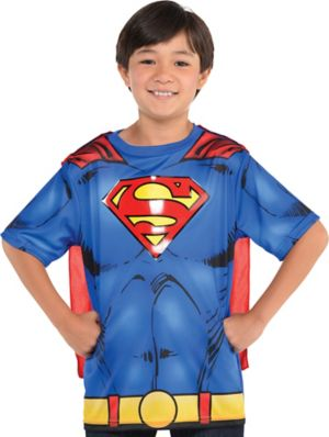 Child Superman T-Shirt with Cape