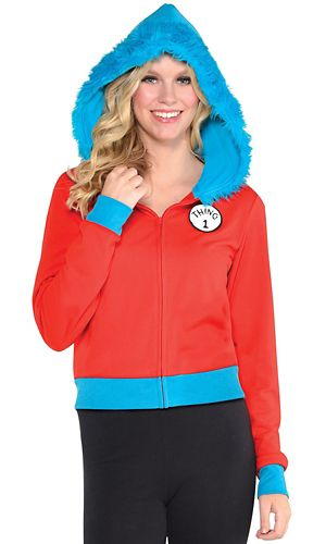 Adult Thing 1 & Thing 2 Hoodie - Dr. Seuss