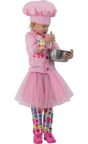 Girls Pink Chef Costume
