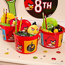 Angry Birds Favor Bucket Idea