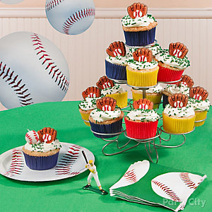 Baseball Cupcake Tower Idea