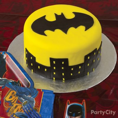 Batman Batsignal Cake How To