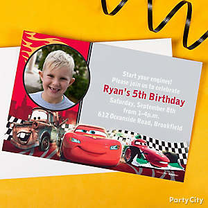 Cars Invitation & Thank You Ideas