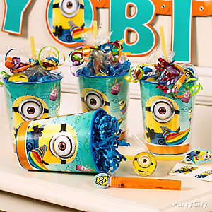 Despicable Me Favor Cup Idea