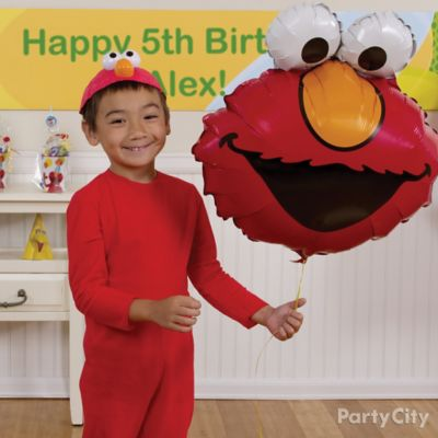 Elmo Birthday Costume Idea