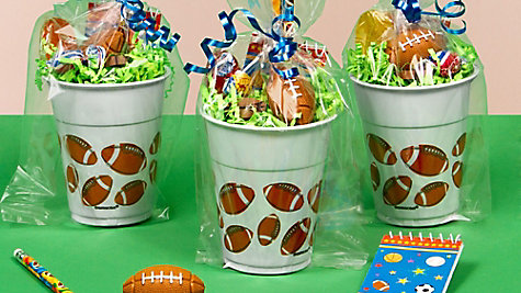 Football Favor Cup Idea