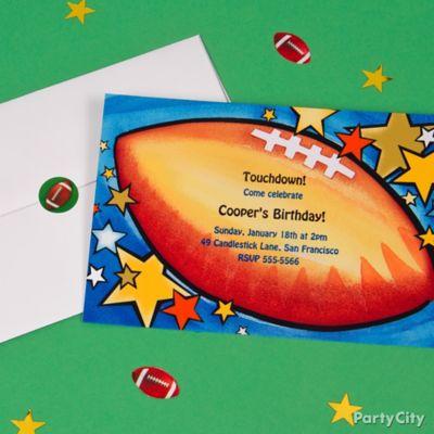 Football Custom Invite Idea