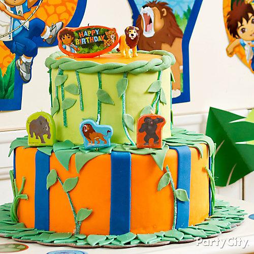 Go Diego, Go! Fondant Cake How To