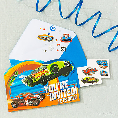 Hot Wheels Invite with Surprise Idea