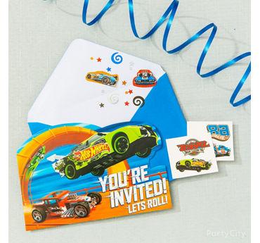 Hot Wheels Invite with Surprise Idea