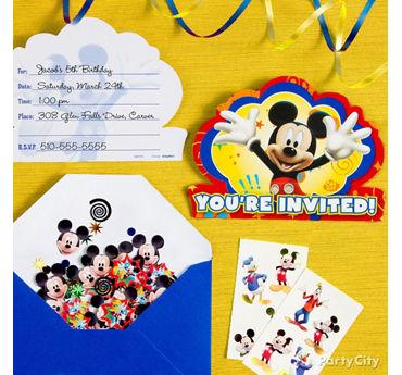 Mickey Mouse Invite Idea