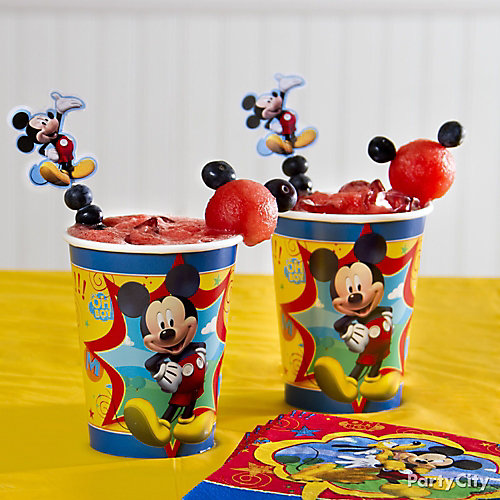 Mickey Mouse Smoothie Idea
