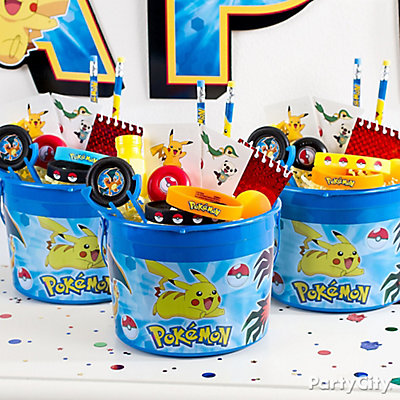 Pokemon Favor Bucket Idea