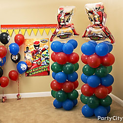 Power Rangers Balloon Tower DIY