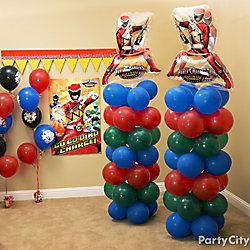 Power Rangers Balloon Tower DIY