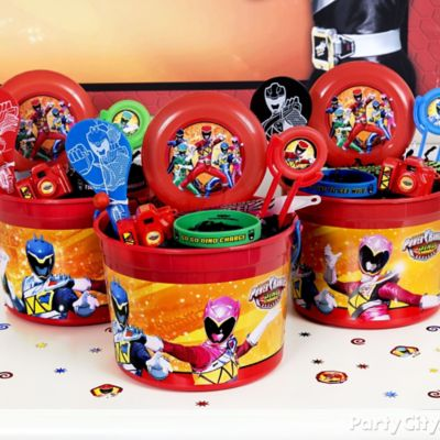 Power Rangers Favor Bucket Idea