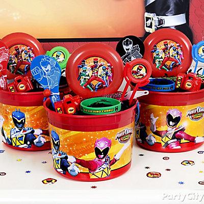 Power Rangers Favor Bucket Idea
