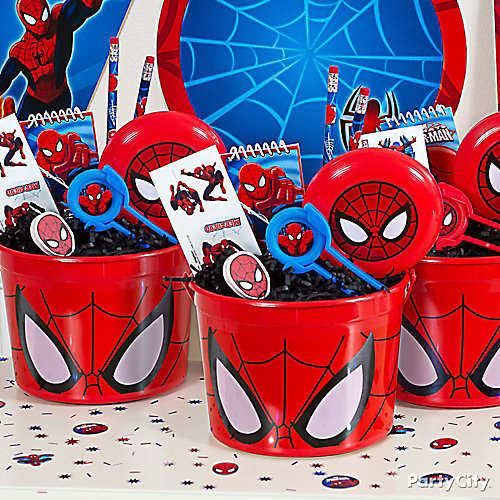 Spider-Man Favor Bucket Idea