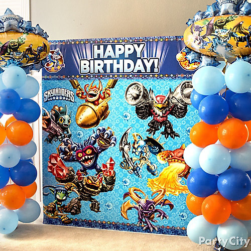Skylanders Balloon Column DIY