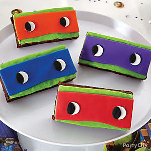 TMNT Mask Brownies How To