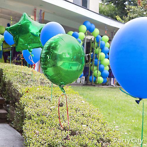 TMNT Balloon Entrance Idea