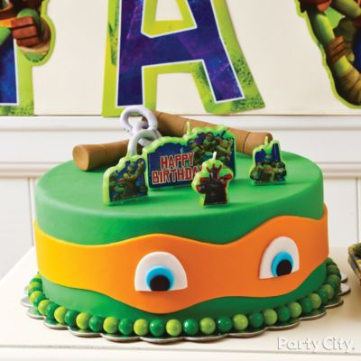 Fondant Teenage Mutant Ninja Turtles Cake How To Party City