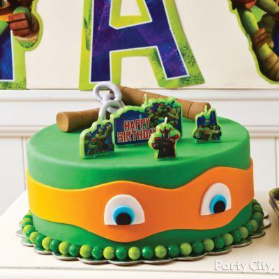 TMNT Fondant Cake How To