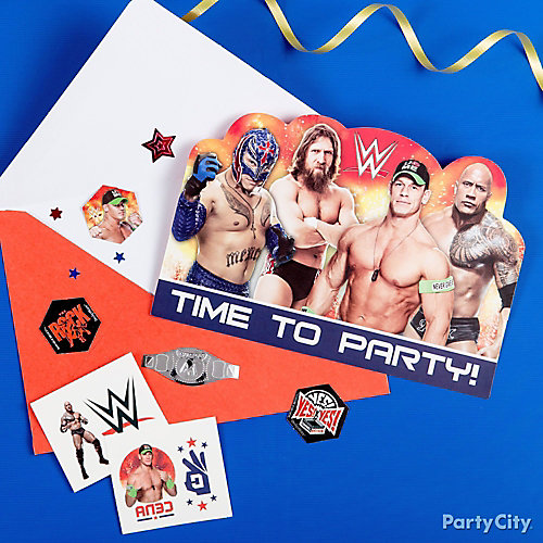 WWE Party Ideas Party City – Wwe Party Invitations