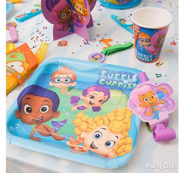 Bubble Guppies Place Setting Idea