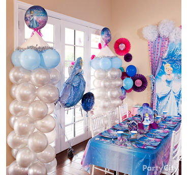 Cinderella Balloon Tower DIY
