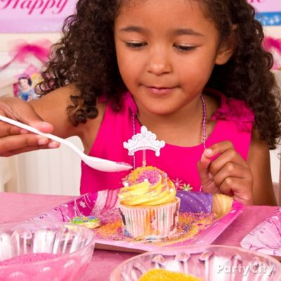 Disney Princess Cupcake Decorating Idea