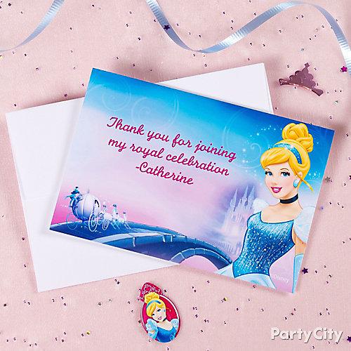 Disney Princess Thank You Note idea