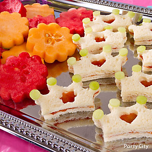 Disney Princess Tiara Sandwiches Idea