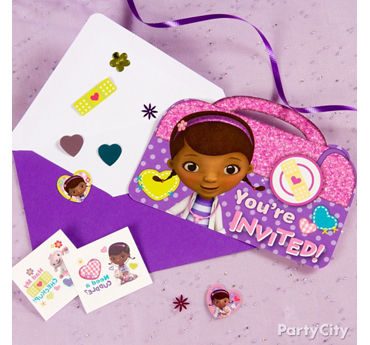 Doc McStuffins Invite with Surprise Idea