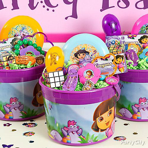 Dora Favor Bucket Idea