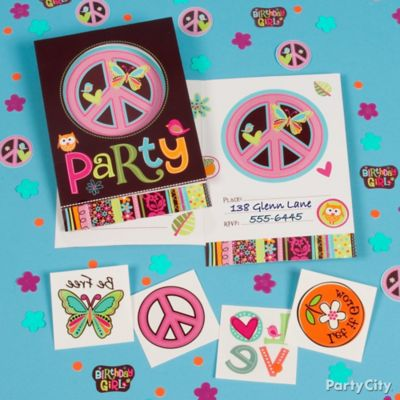 Hippie Chick Invite with Surprise Idea