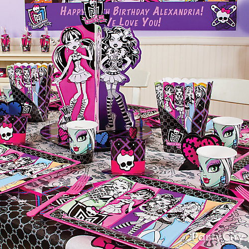 monster high party table idea party city