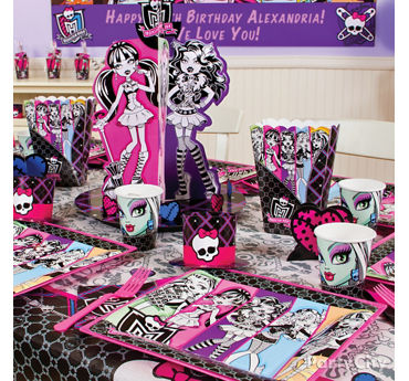 Monster High Party Table Idea
