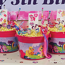 My Little Pony Favor Bucket Idea