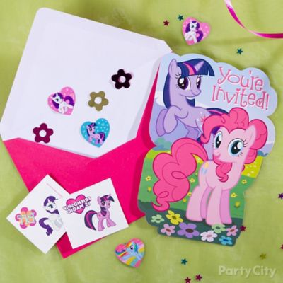 My Little Pony Invite with Favor Idea Party City