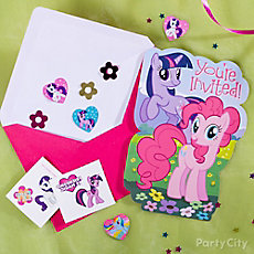 My Little Pony Invite with Favor Idea