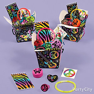 Neon Doodle Favor Box Idea