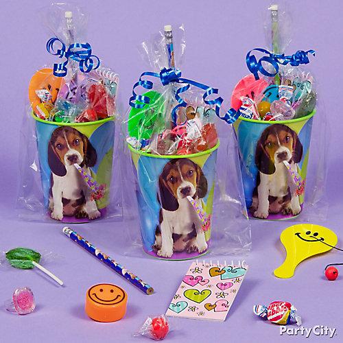 Party Pups Favor Cup Idea