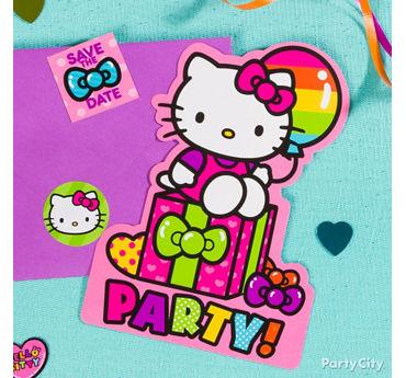 Hello Kitty Invite with Surprise Idea